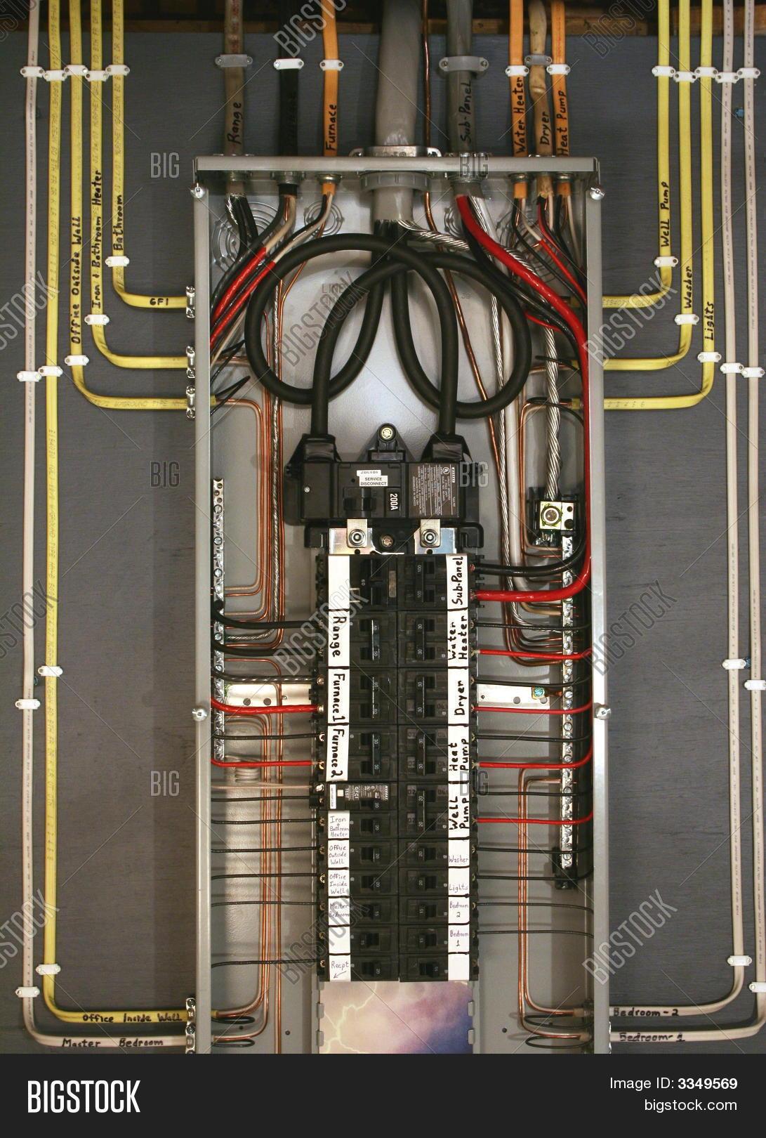 100 Sub Panel Wiring Diagram Breaker Box Image Amp Photo Free Trial Bigstock