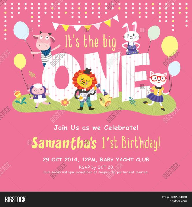 1st Birthday Party Vector Photo Free