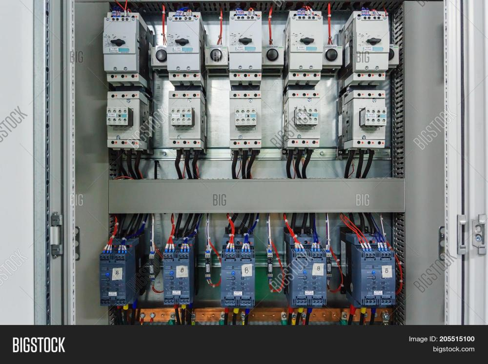 medium resolution of wiring plc control panel with wires in cabinet for machine industrial factory
