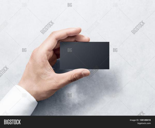 Hand Holding Business Card Blank