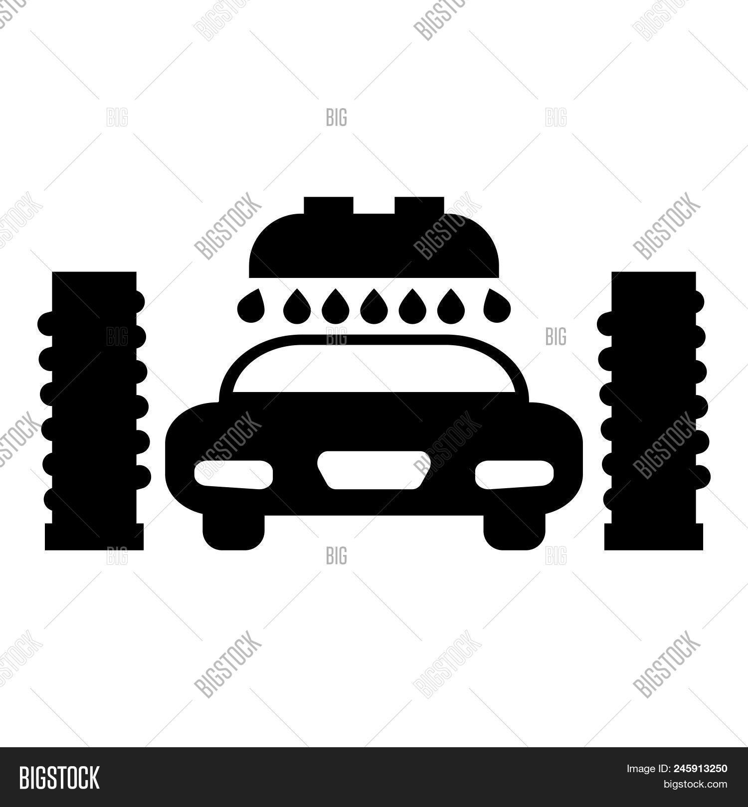 car wash automatic vector
