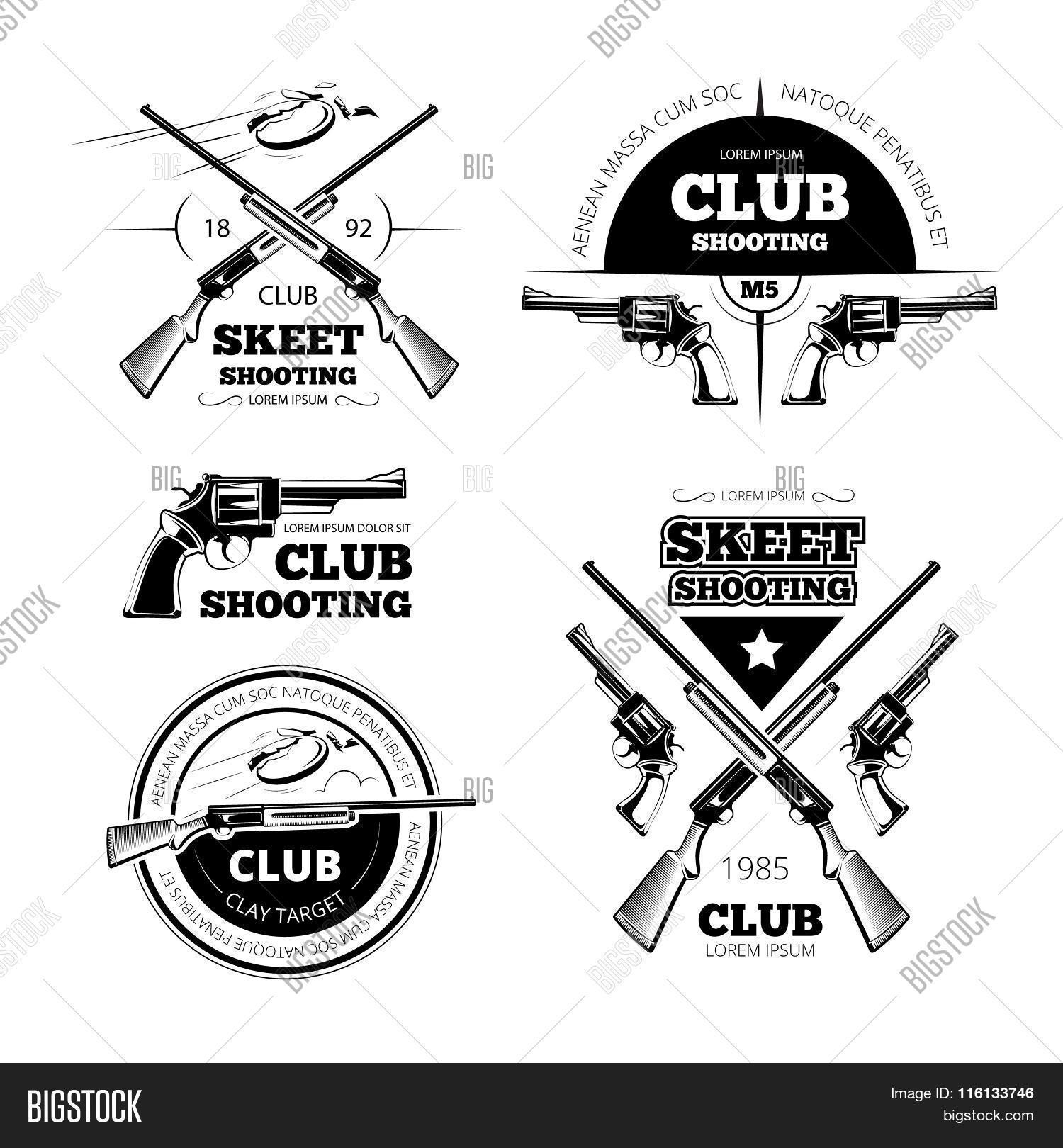Vintage Gun Club Vector Amp Photo Free Trial