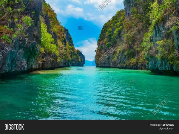 beautiful tropical landscape blue