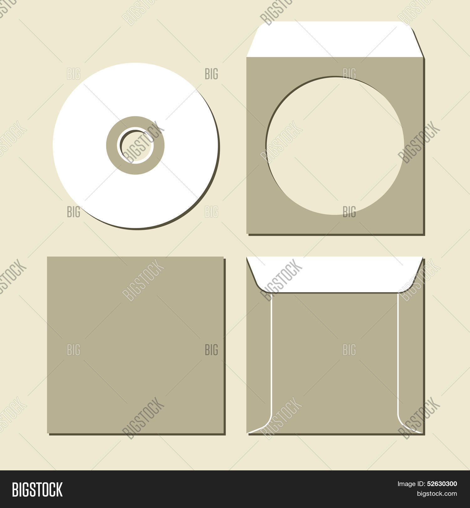 hight resolution of blank white compact disc with a gray background