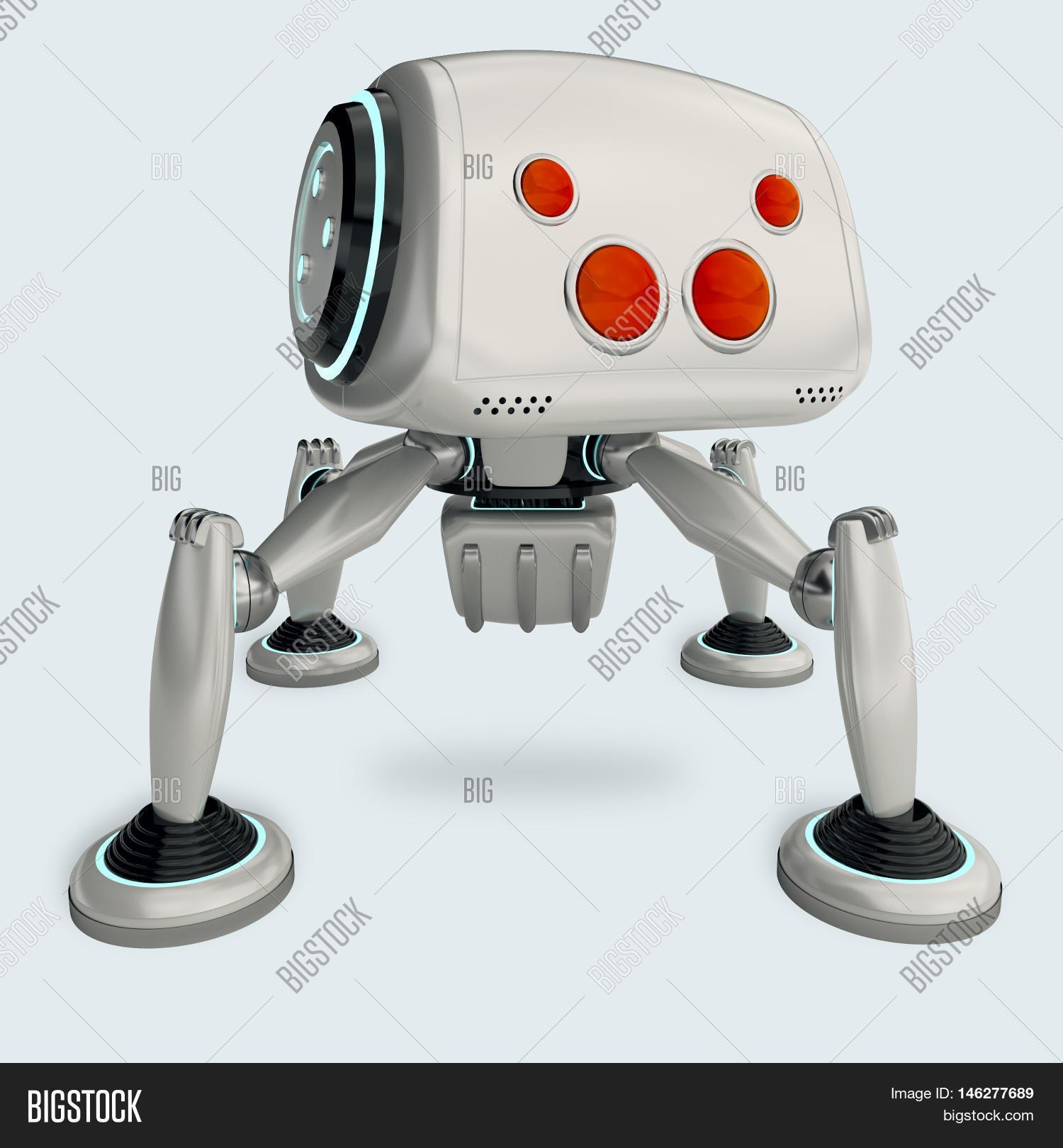 white robot spider image