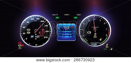 car dashboard modern vector
