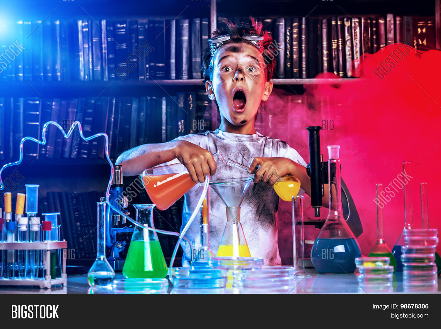 Boy Doing Experiments Image Amp Photo Free Trial