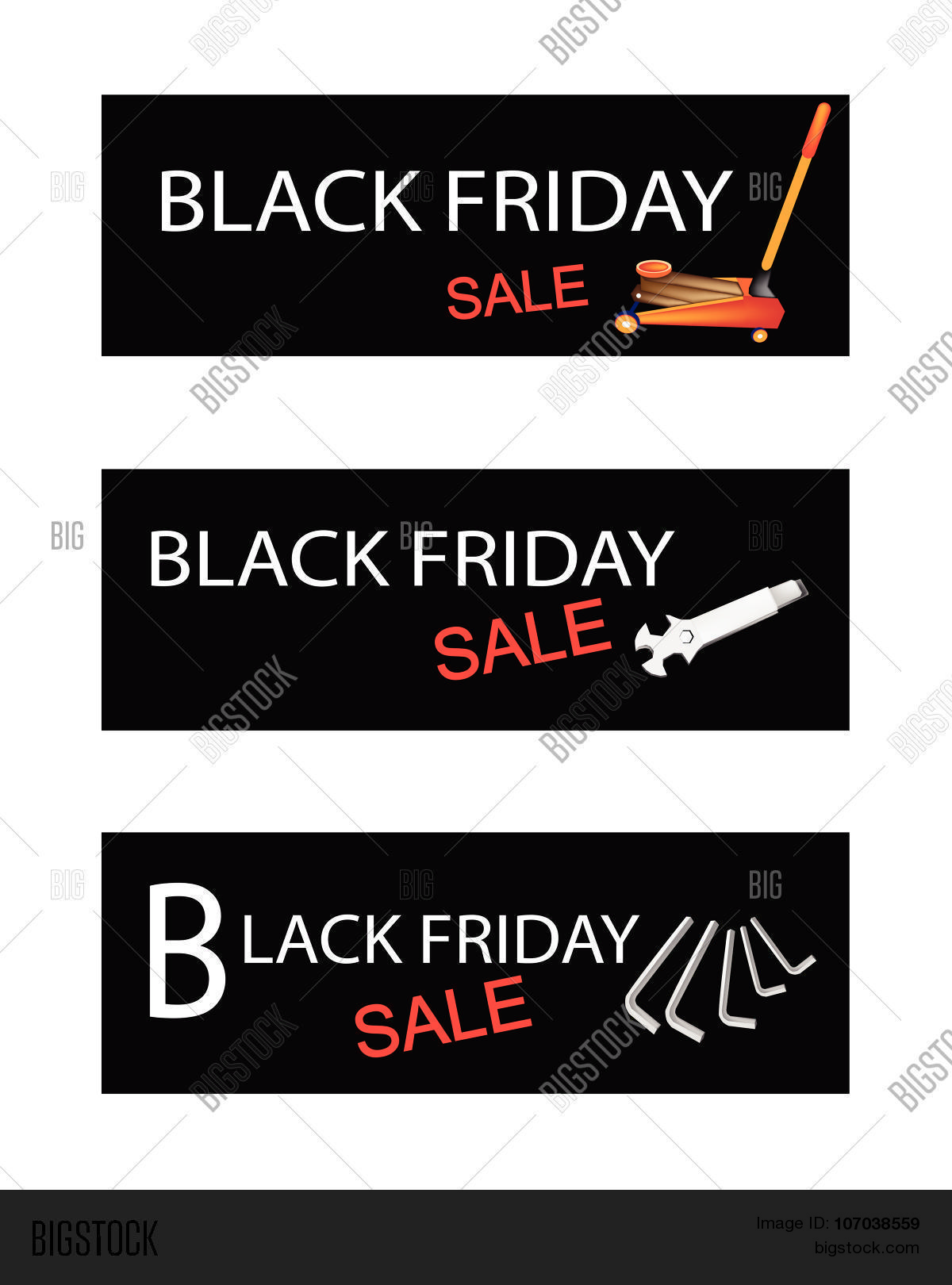 hight resolution of illustration of car jack and repair tools kits on black friday shopping labels for start christmas shopping season