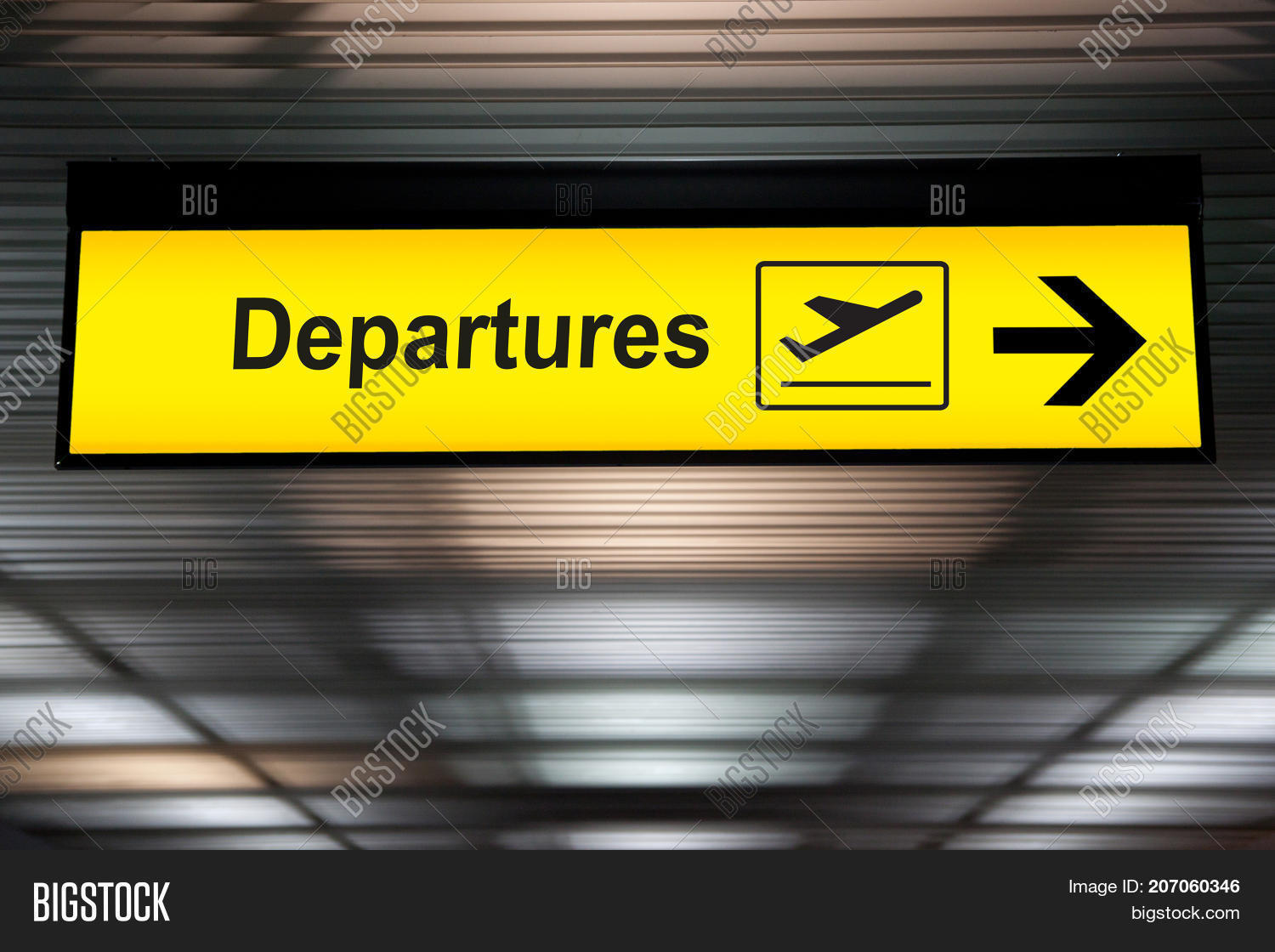 airport departure sign image