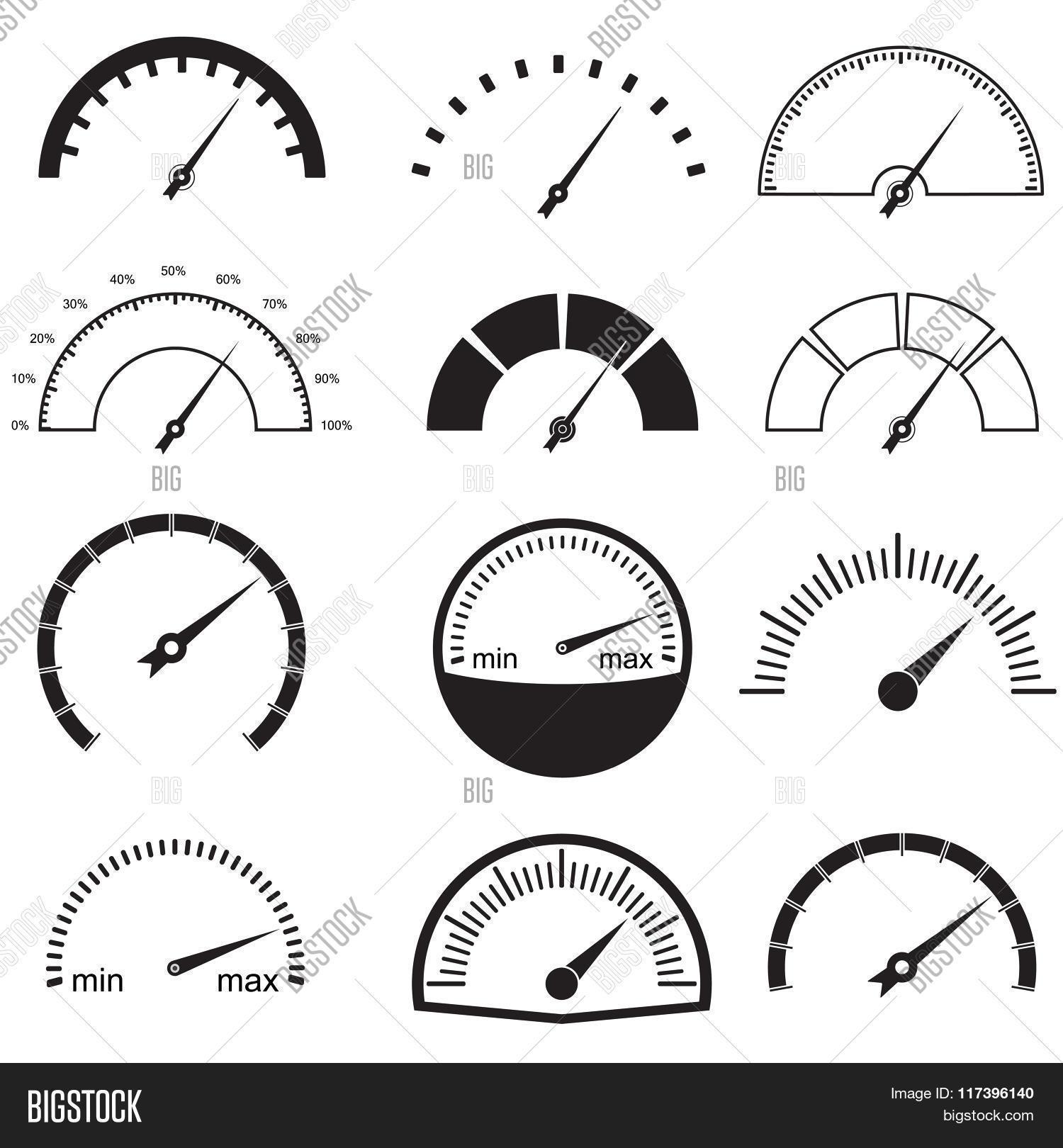 Speedometer Gauge Vector Amp Photo Free Trial