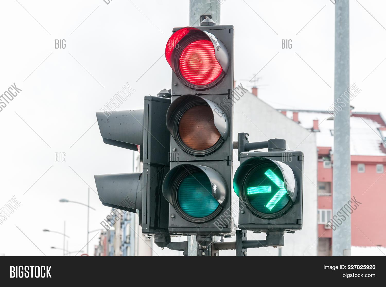 Close Traffic Light On Image Amp Photo Free Trial