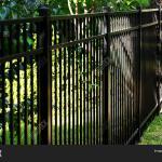 Black Aluminum Fence 3 Image Photo Free Trial Bigstock