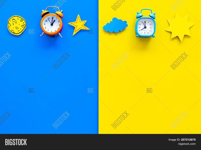 Sleep Time Clock On Image Photo