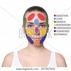 Acne Face Diagram Floor Lamp Parts Young Woman Image Photo Free Trial Bigstock With Map On White Background Skin Care And Beauty