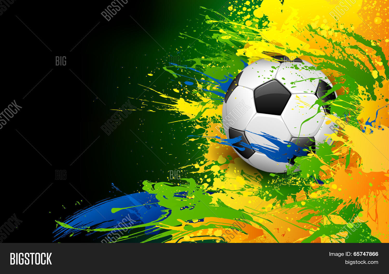 illustration soccer vector photo