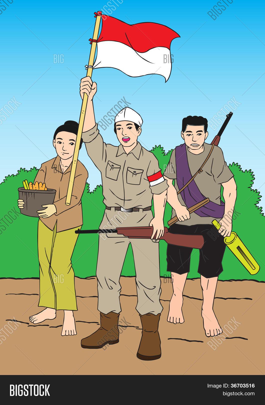 Pejuang Indonesia Vector : pejuang, indonesia, vector, Pejuang, Vector, Photo, (Free, Trial), Bigstock