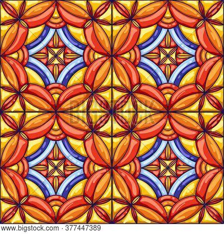 ceramic tile pattern vector photo