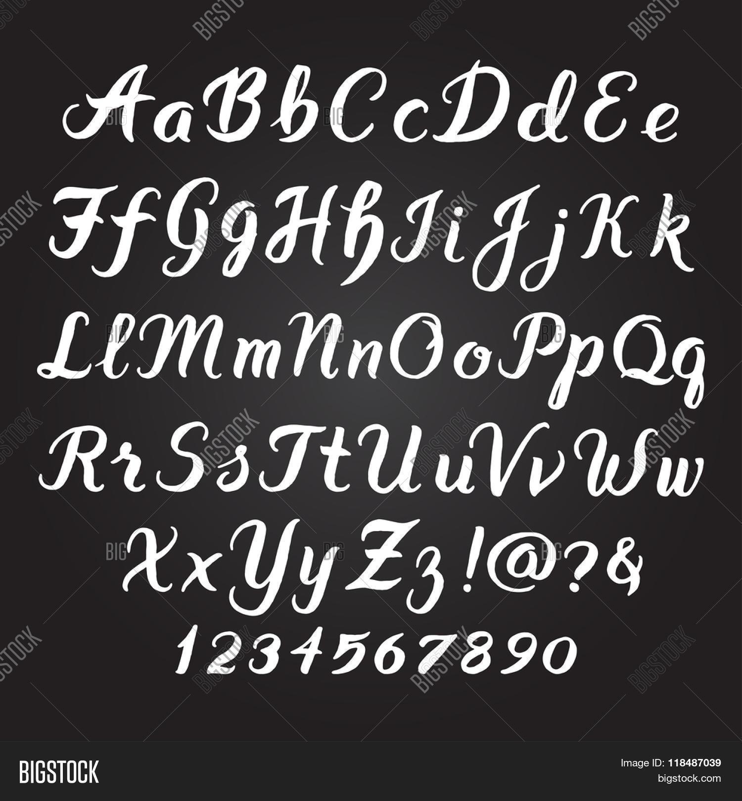 Handwritten Alphabet Vector Amp Photo Free Trial