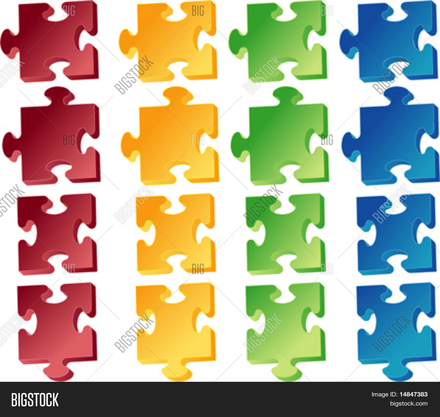 hight resolution of jigaw puzzle pieces vector clipart