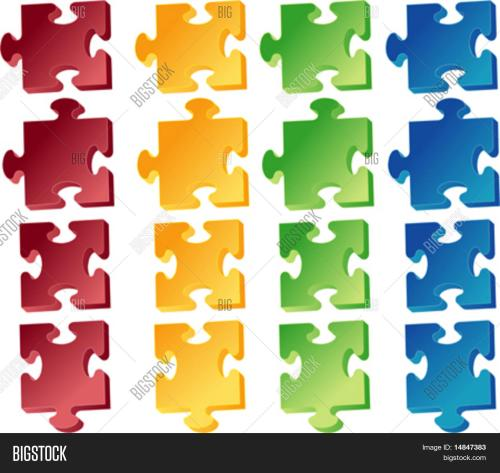 small resolution of jigaw puzzle pieces vector clipart