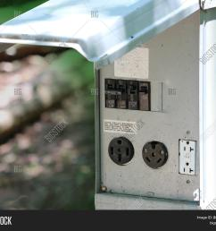 rv camping resort electrical outlet connection with 50 30 and 20 amp [ 1500 x 1313 Pixel ]