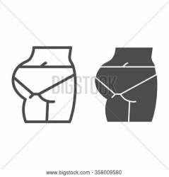 Fit Ass Line Solid Vector & Photo Free Trial Bigstock