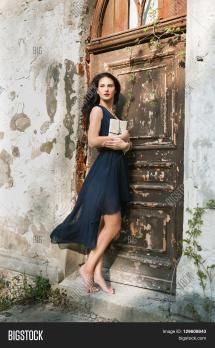 Mistery Barefoot Beautiful Girl & Bigstock