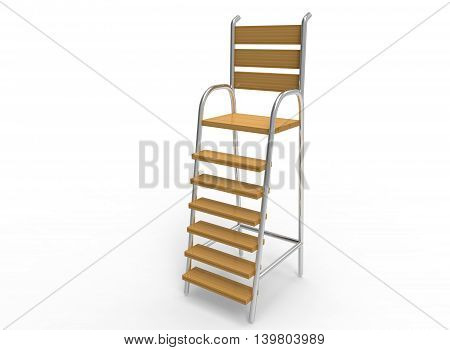 folding umpire chair wheelchair hitch 3d illustration image photo free trial bigstock of white background isolated wood and steel icon for