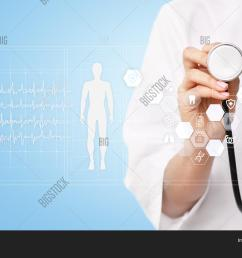 doctor using modern computer with medical record diagram on virtual screen concept health monitorin [ 1500 x 1120 Pixel ]