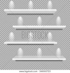 White Bookshelf Transparent Background