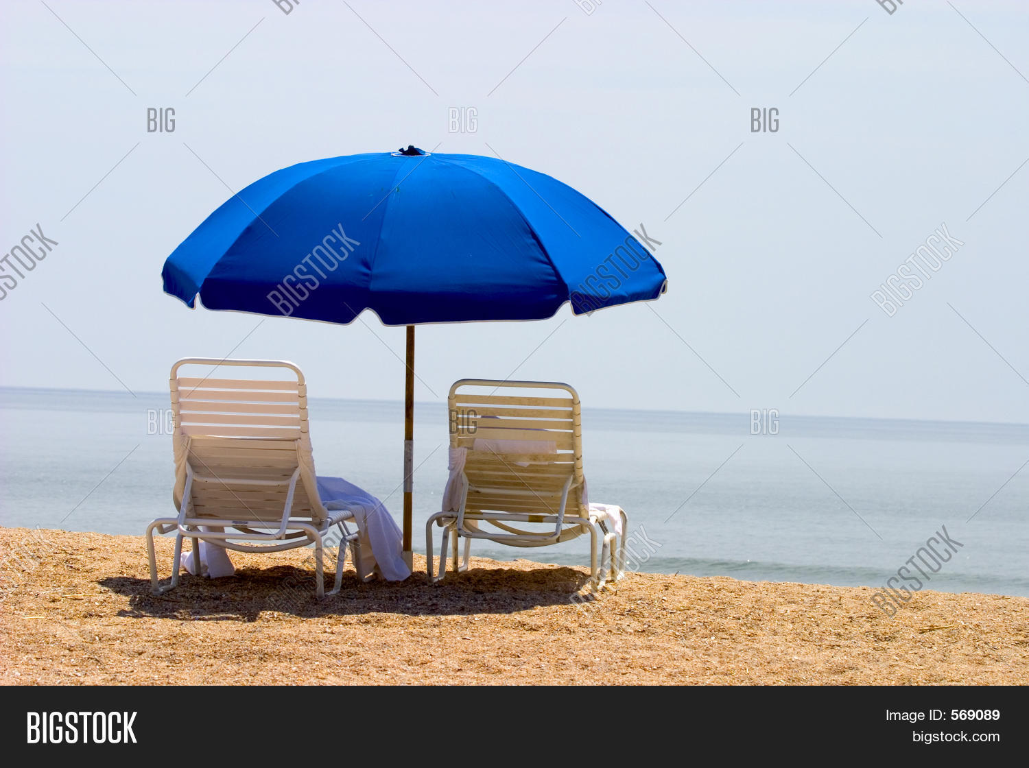 Beach Chairs With Umbrella Two Beach Chairs Image Photo Free Trial Bigstock