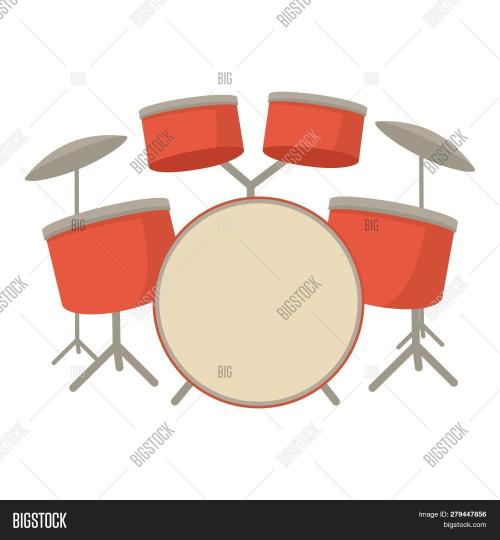 small resolution of drum set icon cartoon illustration of drum set icon for web