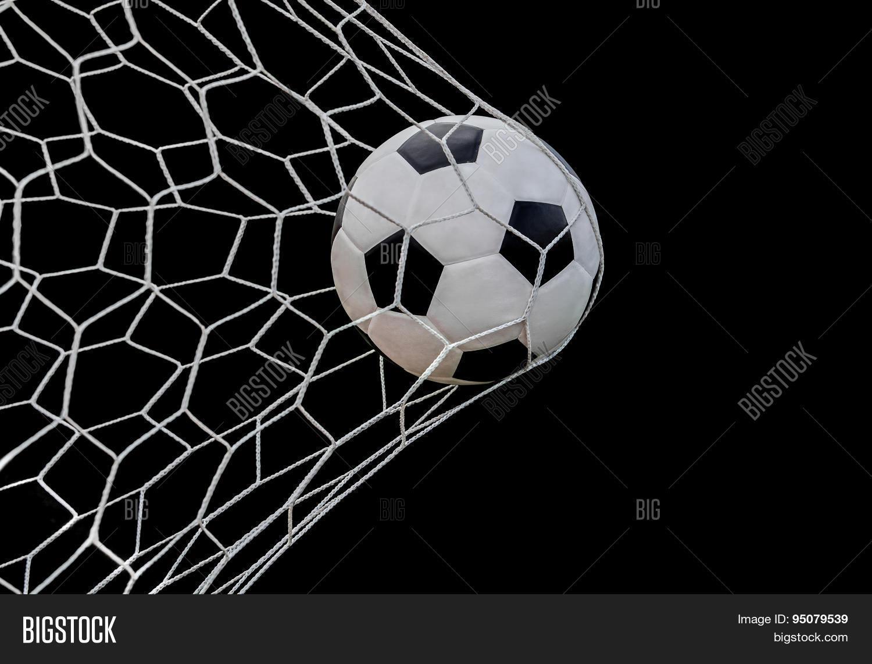Shoot Soccer Ball Goal Image Amp Photo