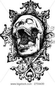 screaming grunge skull vector