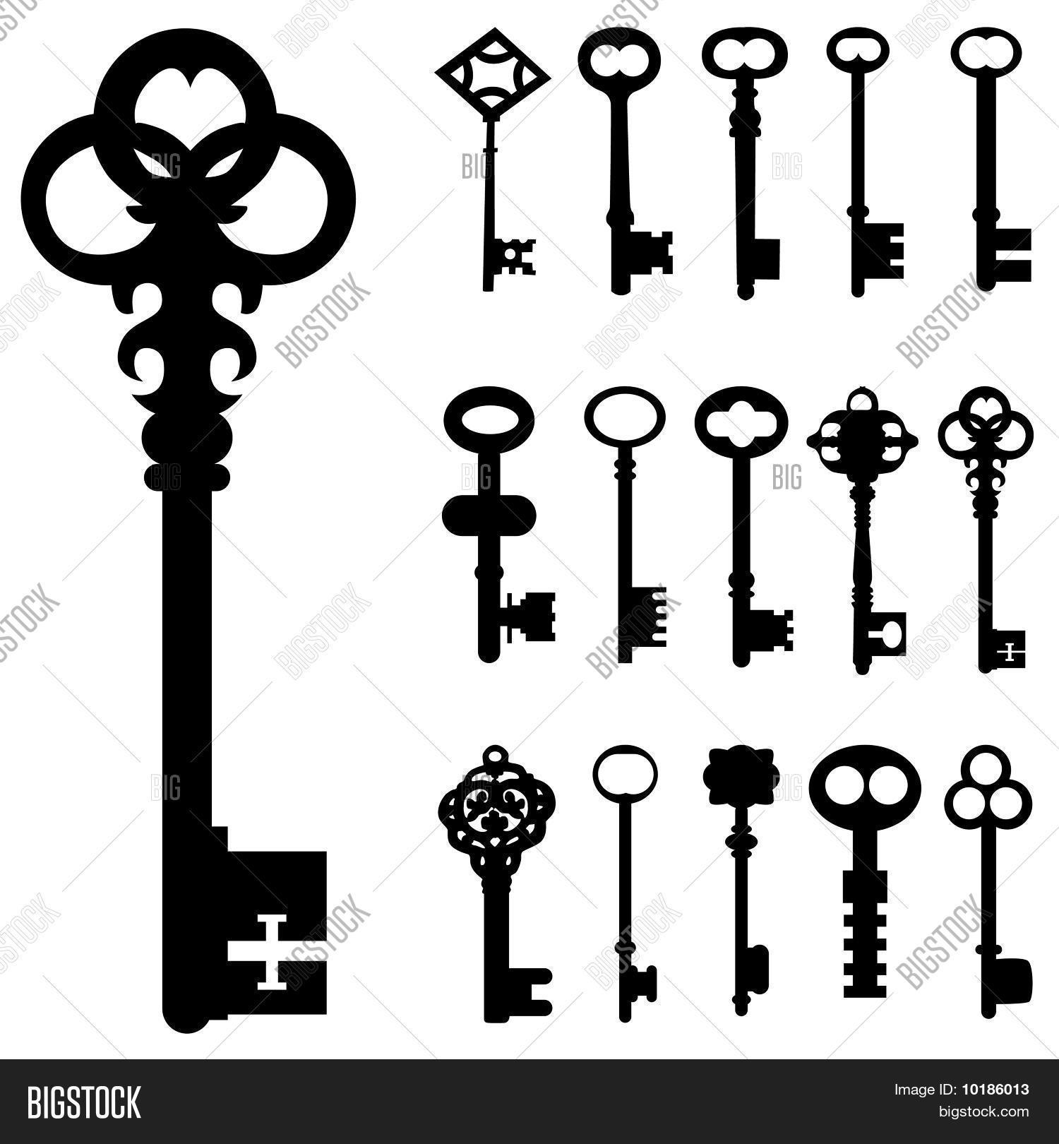 Set Of Key Vector Stock Vector Amp Stock Photos