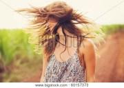 gorgeous romantic girl outdoors