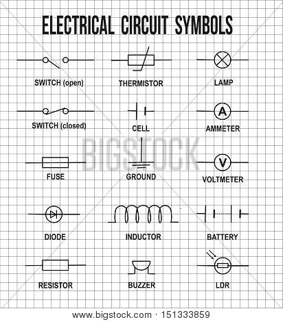Electrical Circuit Symbols Stock Vector & Stock Photos