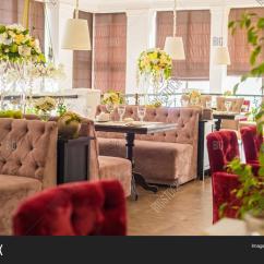 Red Sofa Cafe Baku Loft Bed Interior Restaurant Brown Sofas Image And Photo Bigstock