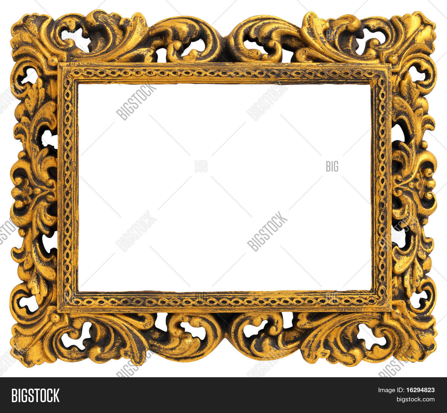 Picture Gold Frame Decorative Image & Photo