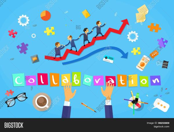 Business People Running Red Arrow Graph Climbing