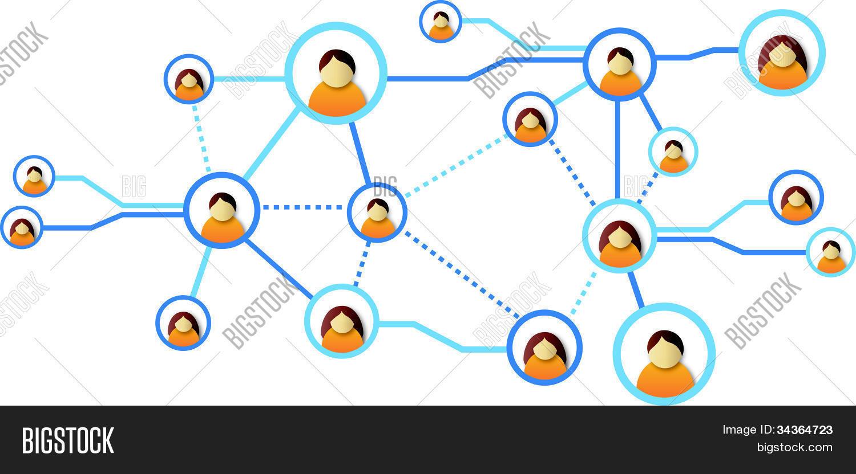 Social Networking Diagram Stock Vector & Stock Photos Bigstock