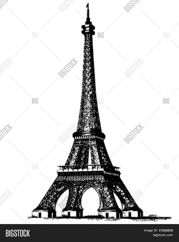 Eiffel Tower 2 - Retro Clip Art Stock Vector &