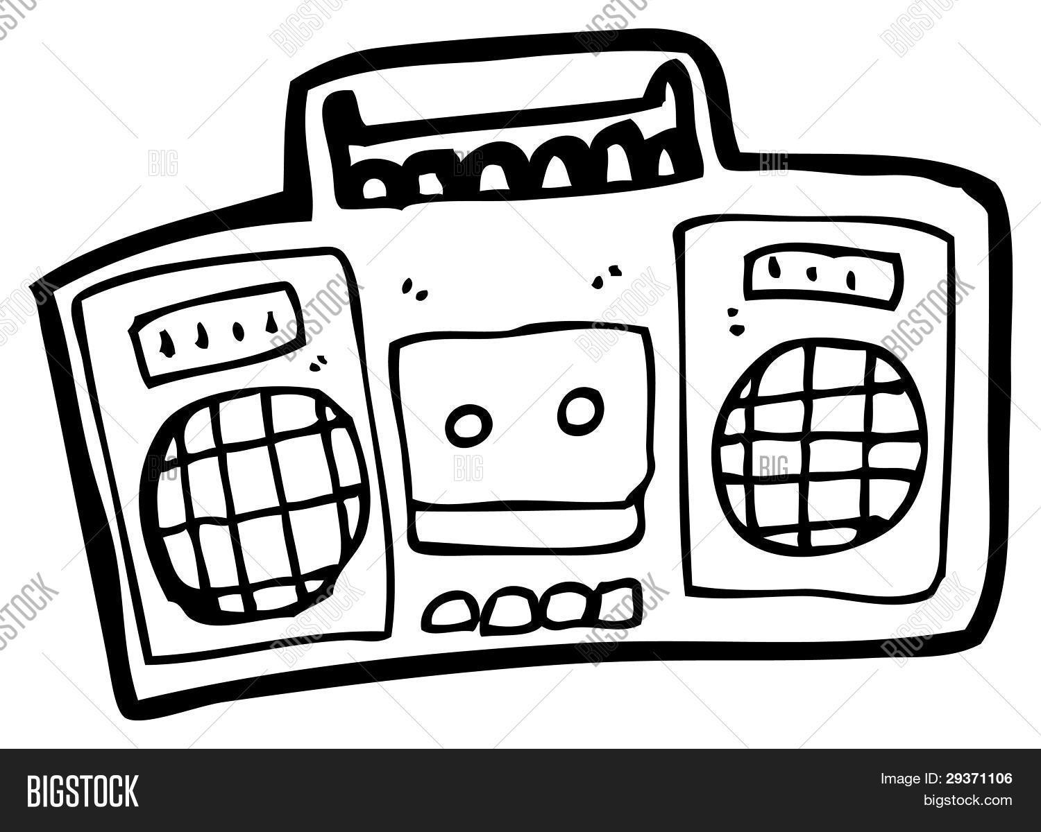 Radio Cassette Player Cartoon Image Amp Photo