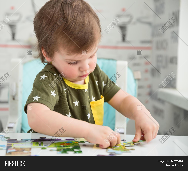 Cute 2 Year Old Boy Toddler Playing Image Amp Photo