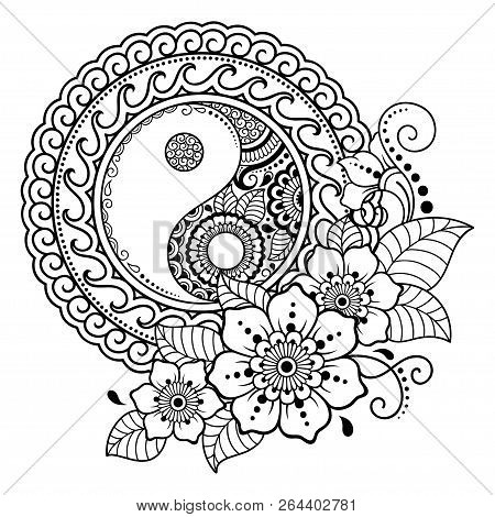 Circular Pattern In Form Of Mandala For Henna, Mehndi