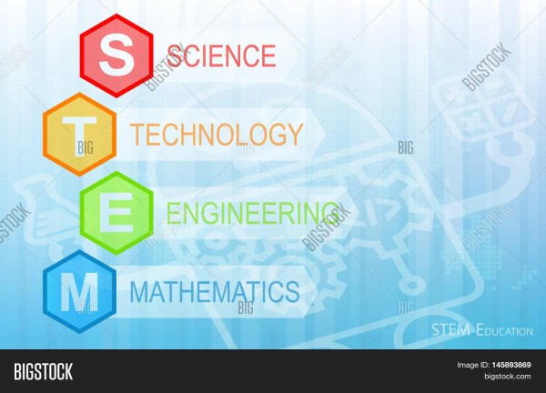 Stem Education Background. Science & Bigstock