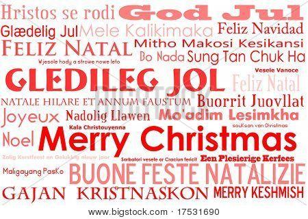 Resultado de imagem para feliz natal em varios idiomas