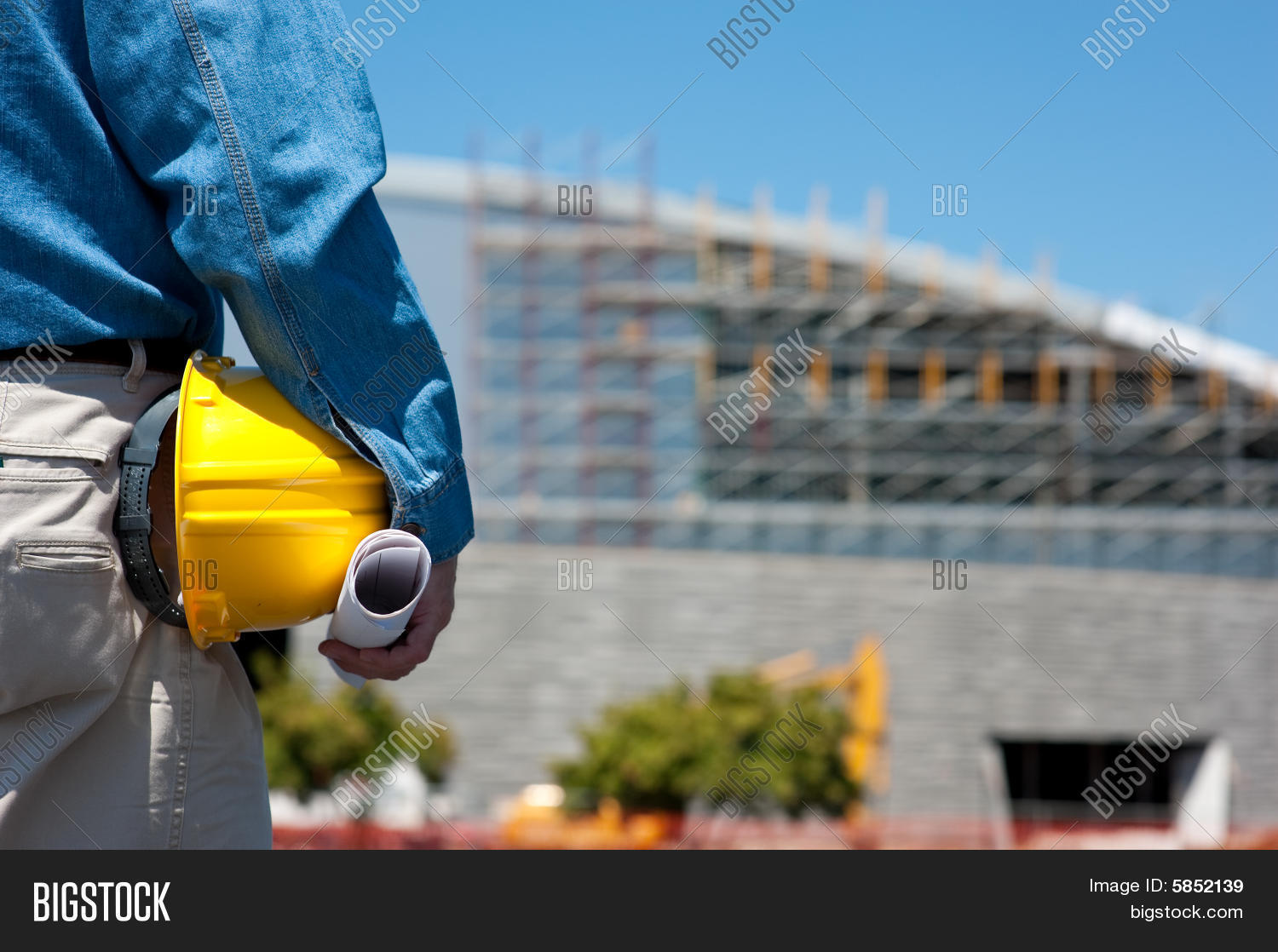 Construction Worker Or Foreman At Construction Site Stock Photo & Stock Images   Bigstock
