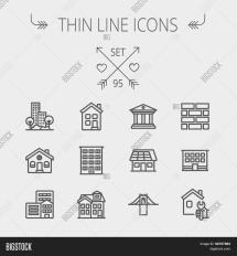 Construction Thin Line Icon Set Web And Mobile