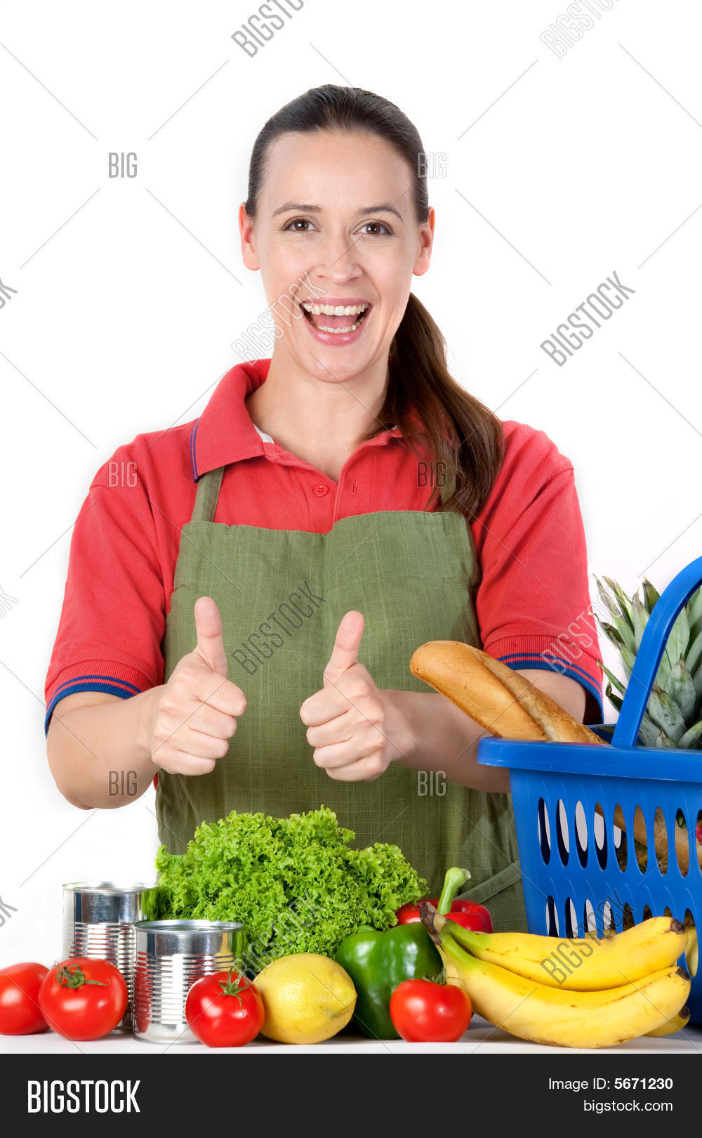 Friendly Grocery Store Assistant Stock Photo  Stock Images  Bigstock